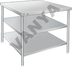Table With 2 Under Shelves